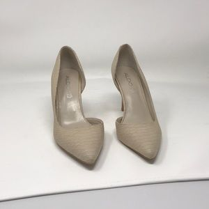 ALDO Snake/Lizard Print Leather Pointy Heels
